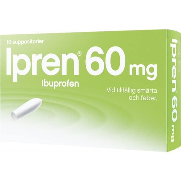Ipren suppositorium 60 mg 10 st