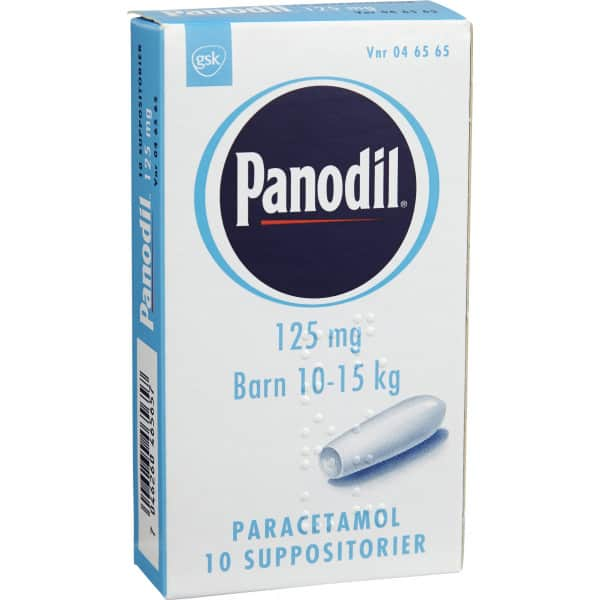 Panodil 125 mg suppositorier 10 st