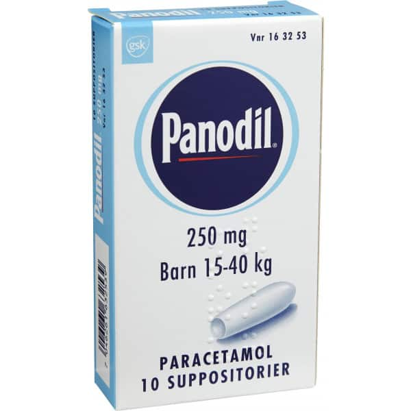 Panodil suppositorium 250mg 10 st