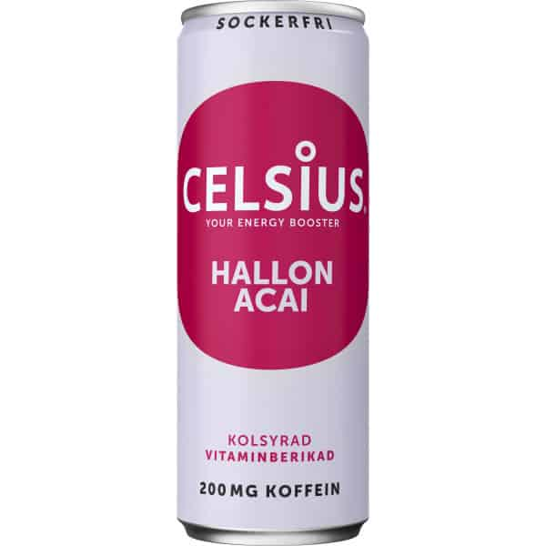Celsius Hallon & acai 355 ml