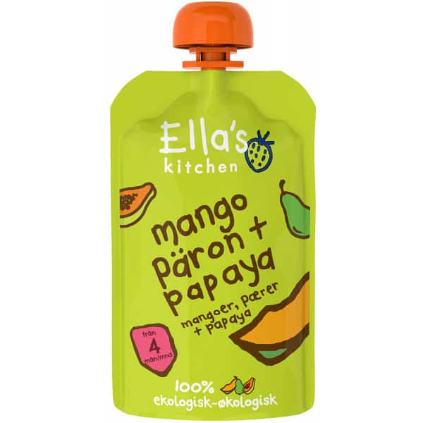 Ella's Kitchen Mango, päron & papaya puré 120 g