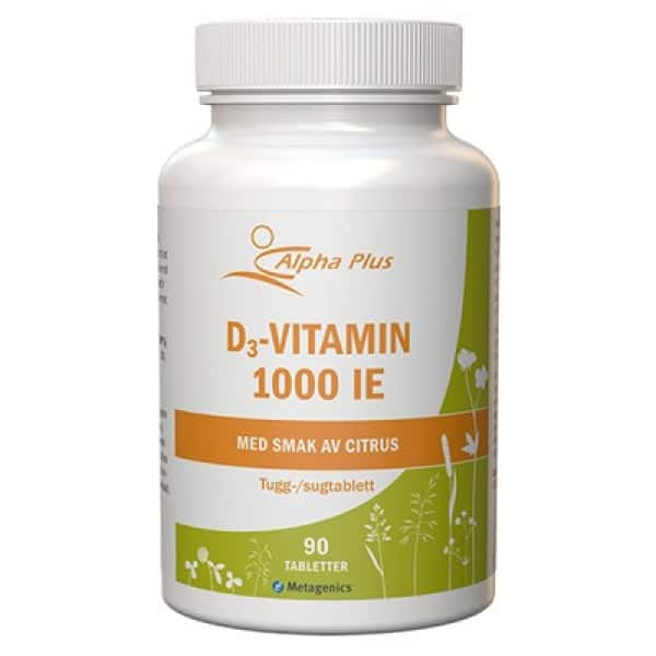 Alpha Plus D3-vitamin 1000 IE 90 sugtabletter