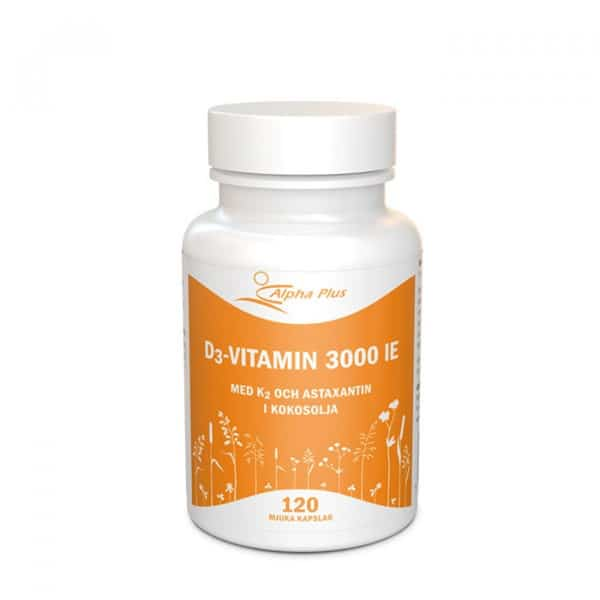 Alpha Plus D3 vitamin 3000 IE + K2 120 kapslar