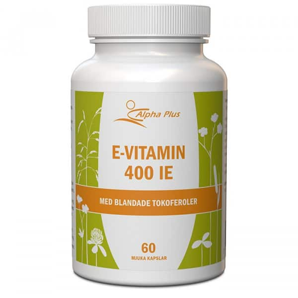 Alpha Plus E-vitamin 400 IE 60 kapslar