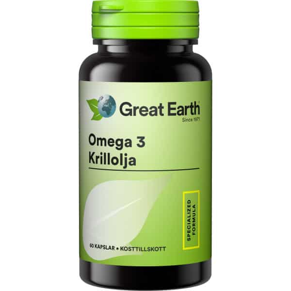 Great Earth Omega 3 Krillolja 60 kap