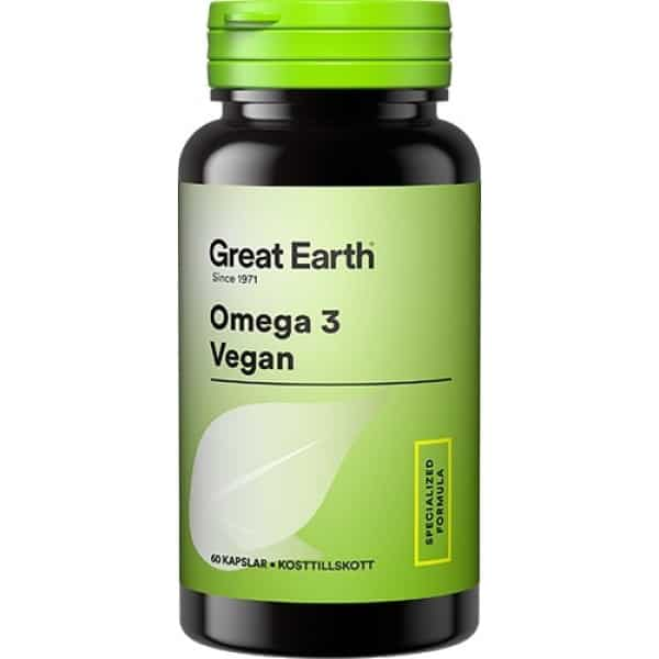 Great Earth Omega 3 Vegan 60 st